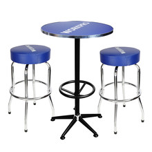 WORKPRO 3PC Bar Stools and Table Set High Quality Home Garage Steel Stools Table(China)