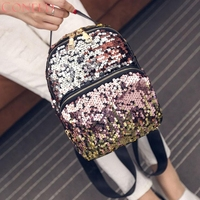 Fashion Backpacks Charming Nice CONEED Women Fashion School Style Sequins Travel Satchel School Bag Backpack Bag