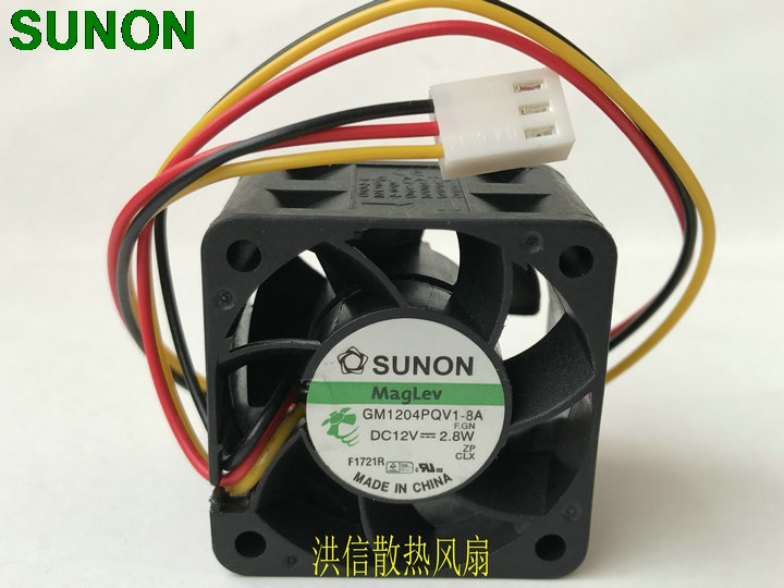 Sunon GM1204PQV1-8A 12V 2.8W 4CM 4028 3-line 1U 2U server fan 9200rpm 14CFM new original sunon 4cm psd1204ppbx a 4056 12v 12 2w 800 3375 01 b0 cooling fan