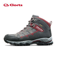 2016 Clorts Men Hiking Shoes HKM 823A B Mid Cut Cow Suede Hiking Boots Rubber Sport