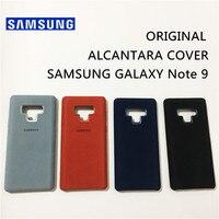 Оригинальные samsung Алькантара крышка для Galaxy Note 9 SM-N9600 кожа антидетонационных anti-падения случае Fundas coque