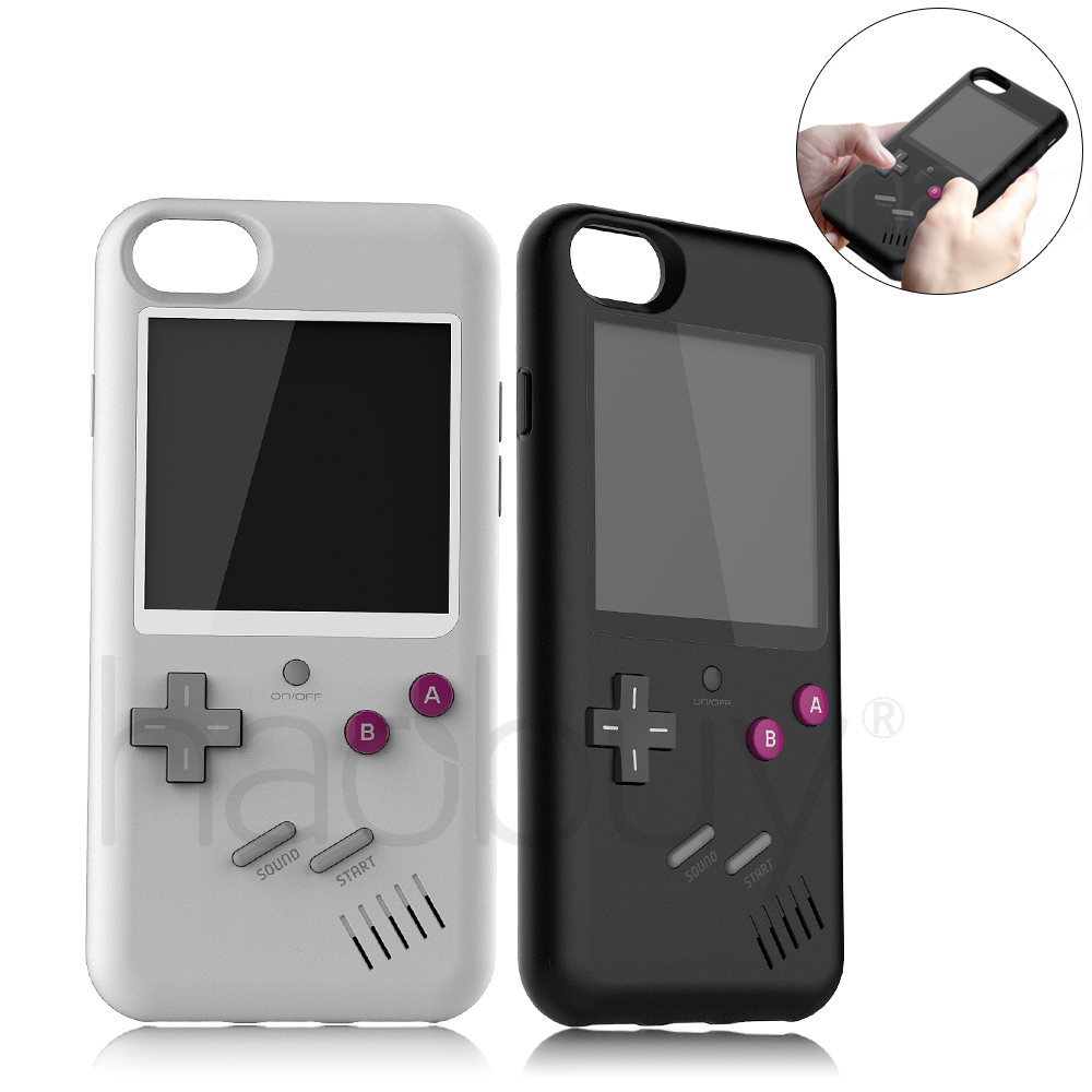 Tetris Gameboy Cover Case For Apple iPhone 6 6s 7 8 6 Plus 6s 8 Plus iPhone X Retro Silicone + PC Play Game Console Coque Capa