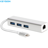 KEYSION USB 3 1 Type C Hub To Multiple 3 USB 3 0 Converter With Ethernet