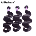 Alibarbara 9A cabelo brasileiro onda do corpo do cabelo virgem 3 pacotes onda do corpo brasileiro extensões de cabelo humano virgens ofertas bundle cabelo