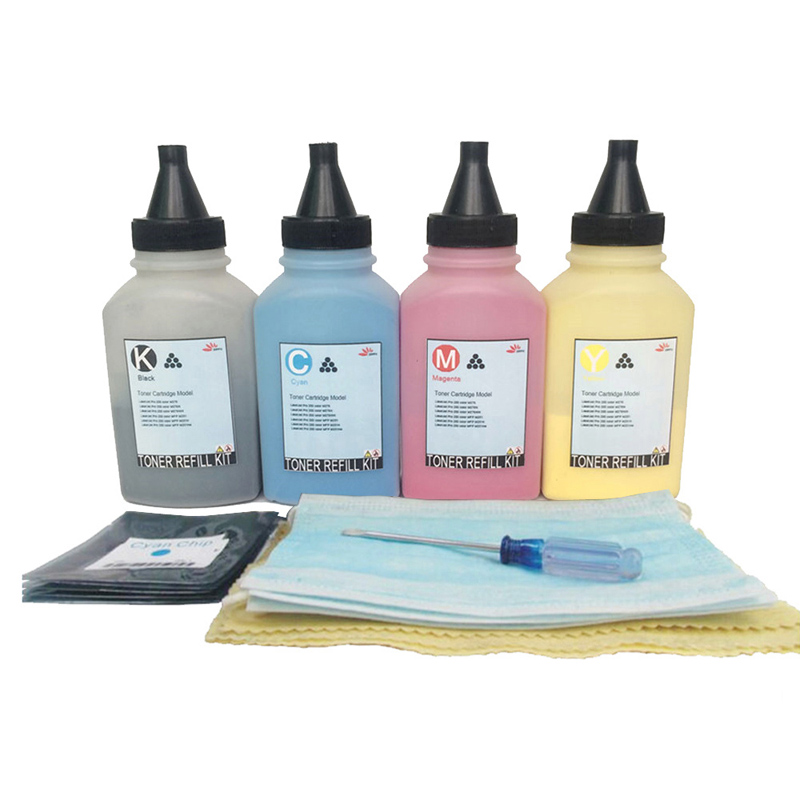 Toner Refill Powder Kit + Chips for Xerox WorkCentre 7120 7125 7220 7225 7225i Compatible 22k/15k KCMY free shipping one set 006r01461 006r01464 toner chip for xerox workcentre 7120 7125 printer cartridge refill with high quality