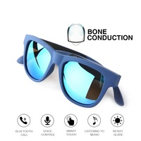 Fashion G1 Bluetooth Bone Conduction Headset Polarized Smart Glasses Stereo Earphones Sports Wireless Headphones with Microphone