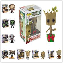 Funko POP Guardians of the Galaxy 2 Action Figure Model PVC Figuras Rocket Groot Action Figures toys Gifts(China)