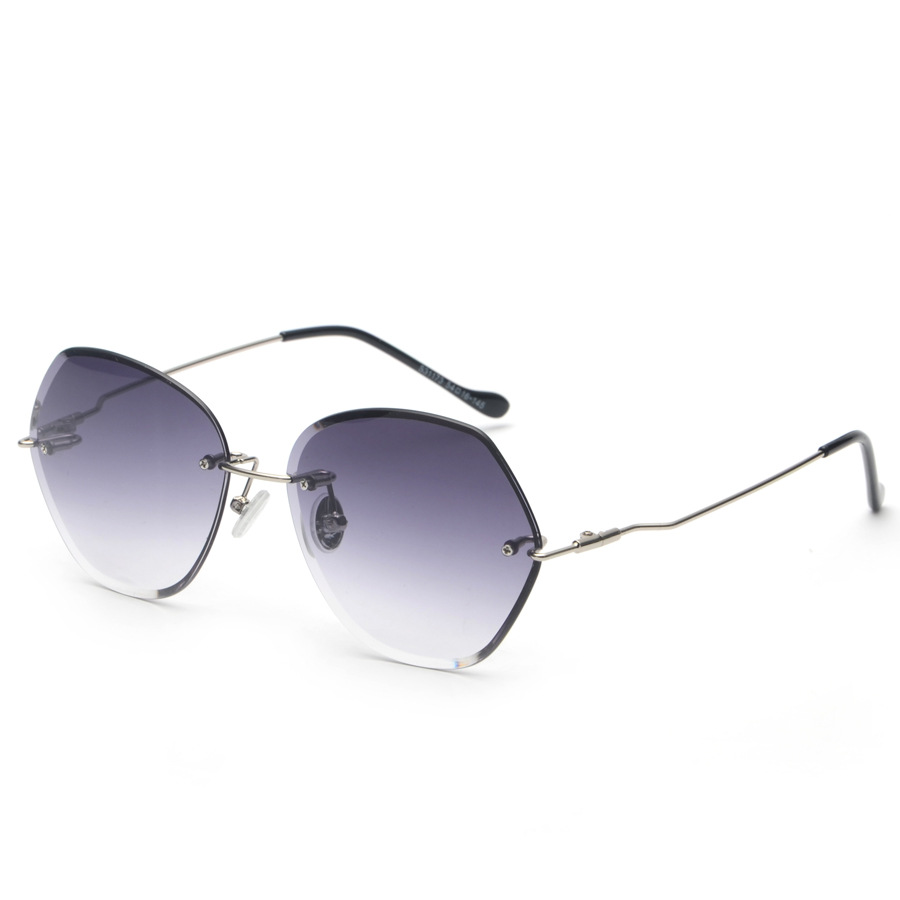 e8861910aa MOLNIYA 2018 Luxury Rimless Sunglasses Women Vintage New Brand Designer  Oversized Retro Female Sun Glasses For Lady UV400-in Sunglasses from  Apparel ...