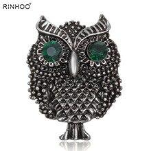 Pájaro grande búhos Vintage broches antigüedades Bouquet Owle pin up diseñador Wedded brocha bufanda Clips joyería