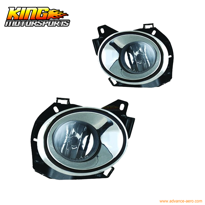 For 2013 - 2017 Nissan Pathfinder Chrome Trim Front Fog Light Lamp With Wiring kit USA Domestic Free Shipping Hot Selling for 04 10 nissan titan armada fog lights clear light lamps passenger driver usa domestic free shipping hot selling