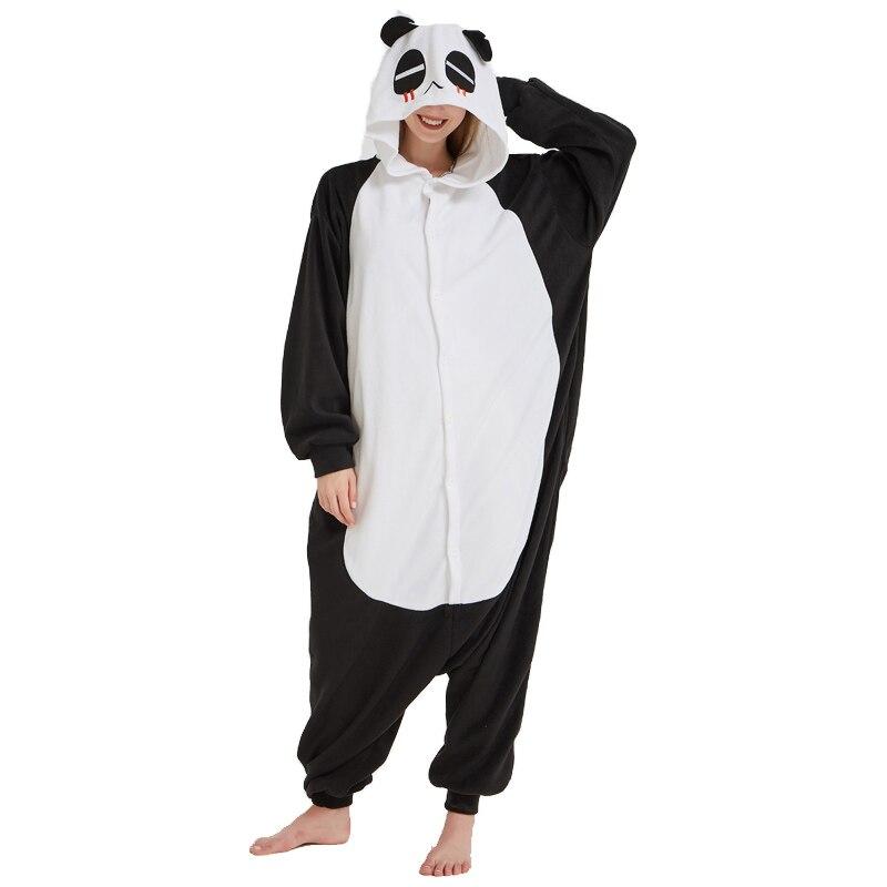 Fleece Bear Onesies Adult Kung Fu Panda Kigurumi Pajamas For Women Nightgowns Winter Sleepwear Men Cosplay Pajamas Sets Costume
