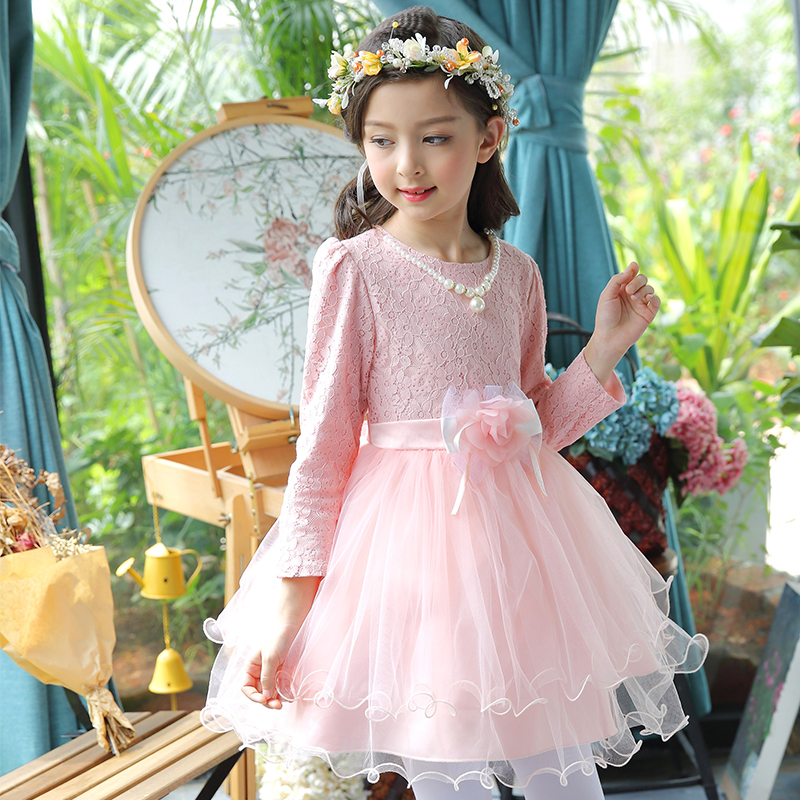 Flower Girls Dress Kids Clothes 2017 Baby Girl Wedding Veil Dresses Kids Birthday Party Wear Costume For Girl Children Clothing стоимость