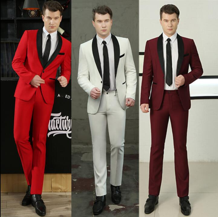 wedding suits for men blazer boys prom mariage fashion slim masculino latest coat pant designs chorus clothes