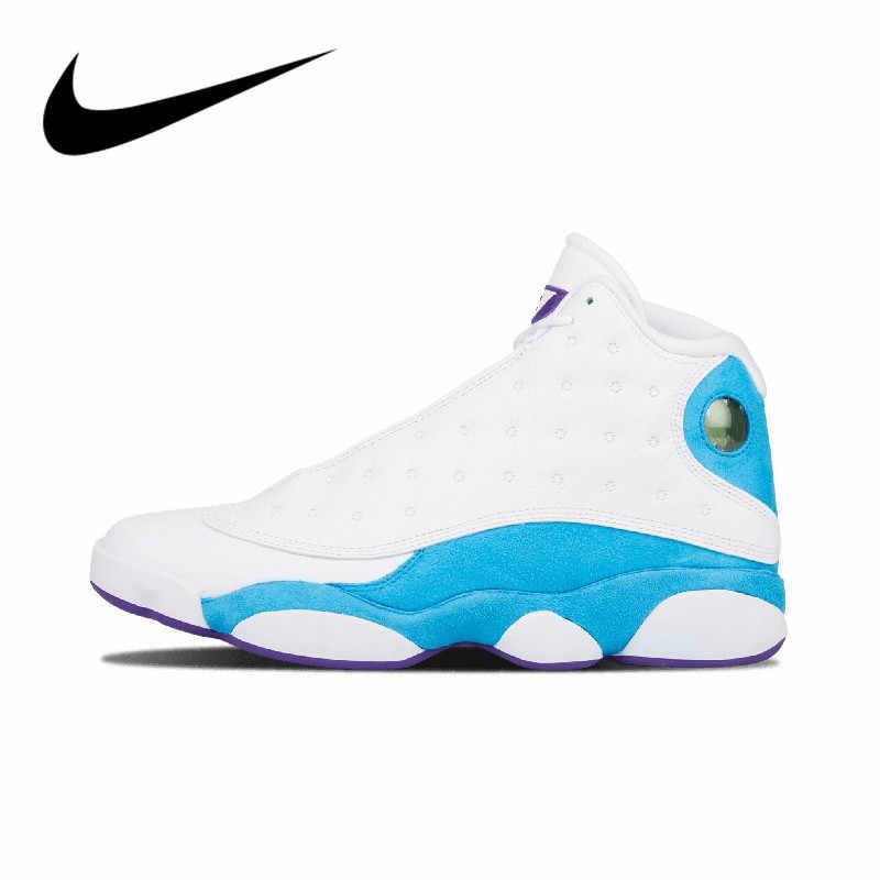 """Original autêntico nike air jordan 13 retro cp pe """"casa"""" sapatos de basquete masculino leve esporte tênis ao ar livre 807504-107"""