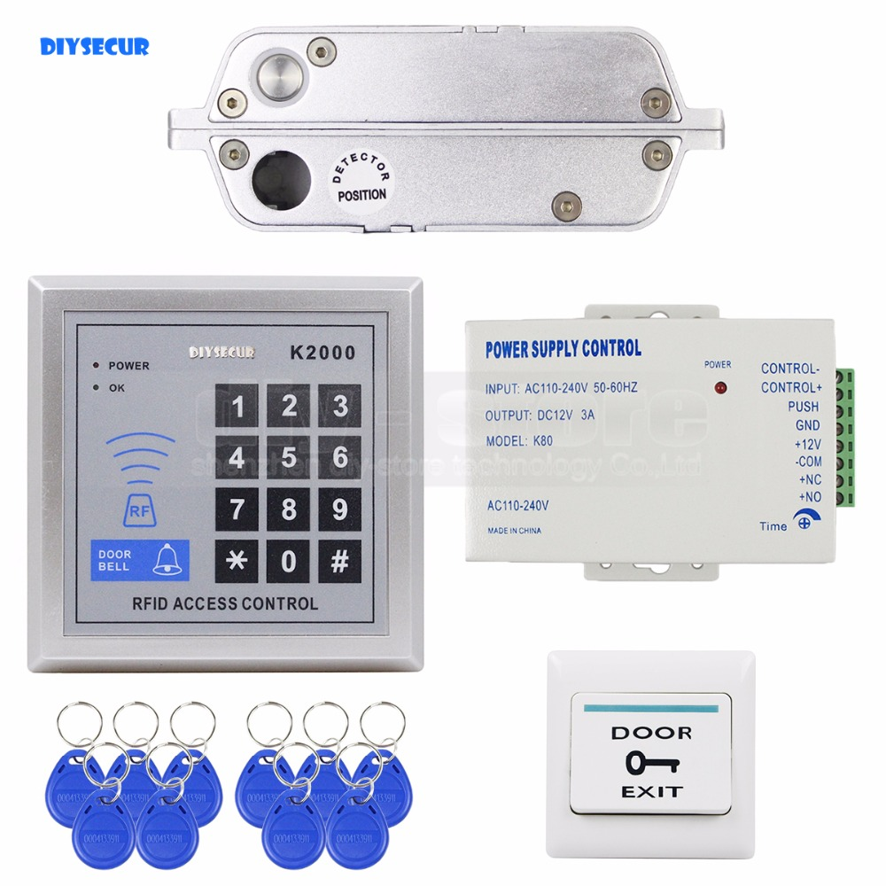 DIYSECUR 125 KHz RFID Passwort Keypad Access Control Security System ...