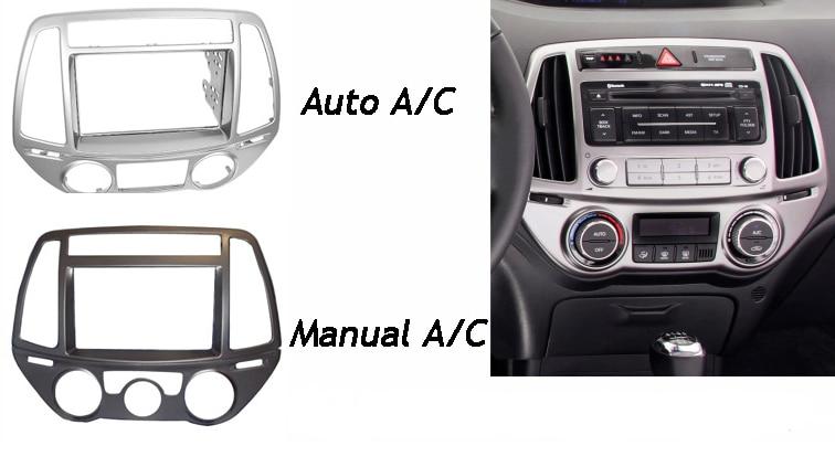 For HYUNDAI I-20 i20 i 20 Radio CD DVD Audio Panel Dash Mount Trim Refitting Kit  Fascia Face Surround Frame Bezel Double Din 0