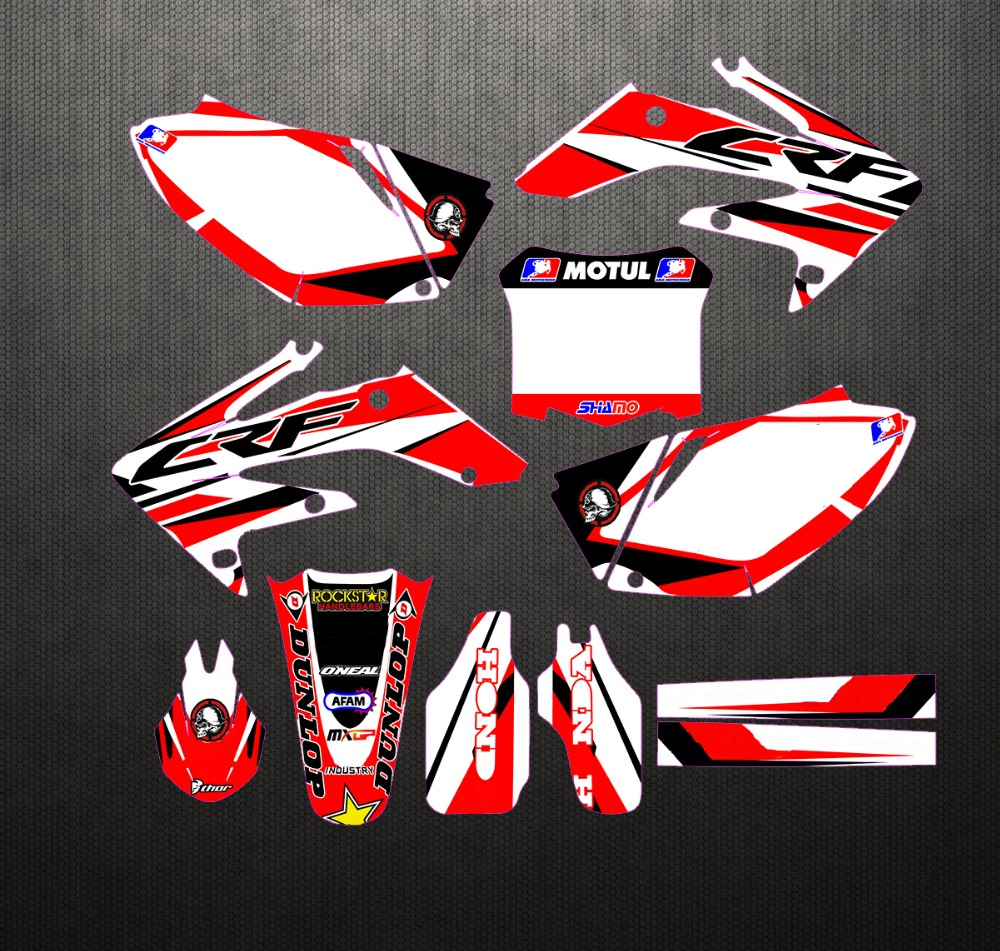 Motorcycle Custom Sticker Decal Graphic With Backgrounds For Honda CRF250 CRF250R CRF 250 250R 2004 2005
