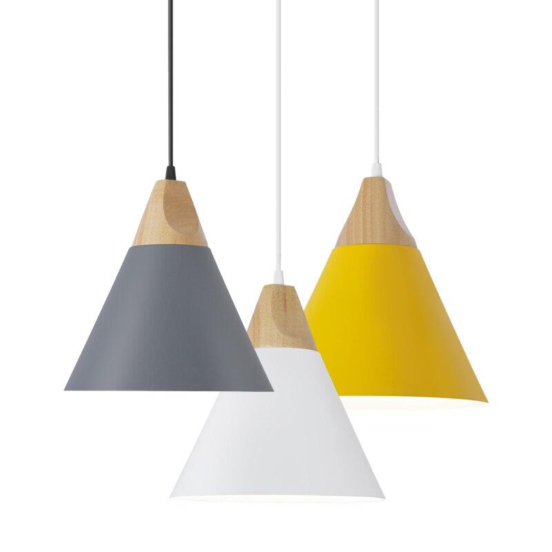 LED Pendant Lights Pendant Lamps Modern Hanglamp Aluminum Suspension luminaire Wood Hanging Lightings Kitchen Dining Room
