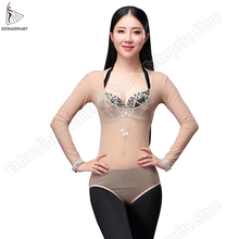 Одежда для танца живота размера плюс, 1 шт., одежда для танца живота с длинным рукавом, аксессуары для танца живота, женский боди, нижняя рубашка, топы для танца живота