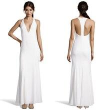 Neue Ankunft Weiß Abendkleider Halfter A-Line Satin Sexy Prom Kleider Sleeveless Zipper Bodenlangen Dinner Wear Für Damen