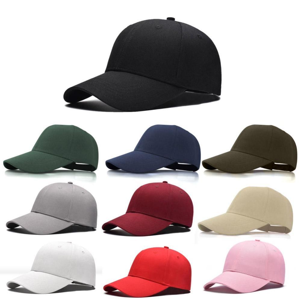1 Pcs 2018 Mode Frauen Männer Sommer Frühling Baumwolle Erwachsene Baseball Kappe Feste Farbe Einstellbar Sport Entenschnabel Hut Kunden Zuerst
