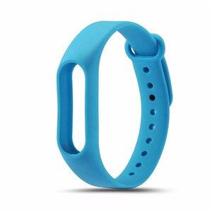 Image 5 - 1 個 mi band2 交換リストバンドストラップソフトシリコーンの腕時計のブレスレットシャオ mi mi バンド 2 ストラップ黒緑 orange 赤