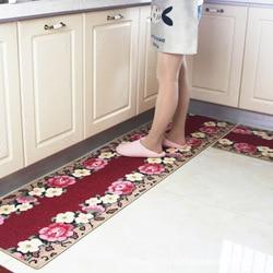 Flower Kitchen rug rubber Mat Anti-Slip Bathroom Carpet Absorb Water Kitchen Rug Home Entrance Doormat Leopard grain  Foam Mat