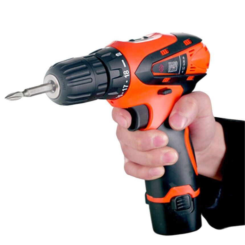 12 V broca de mão broca casa multi-função de carregamento Da Bateria de lítio chave de fenda elétrica broca Pistola