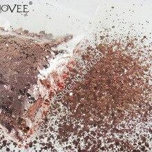 Микс блеск металлической розово-Золотое конфетти Золотой шестигранник блестки Spangle в форме порошка для дизайна ногтей Блестки для рукоделия украшения