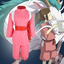Halloween Super Hot Anime Movie Spirited Chihiro Cosplay disfraces Girls  Pink Kimono japonés estilo Ladies Hot trajes 5e078817ad43