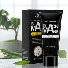 LINGXI удаления угрей черная маска для лица отклеивать для носа и лица Очищающая маска Активированный уголь Бамбук пор усадка акне маска