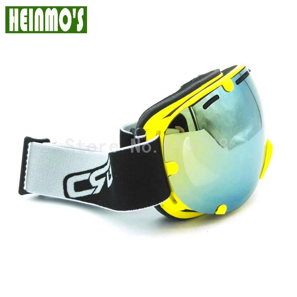 6 Color Motocross Bike Bicycle Lens Ski Goggles Double Lens UV400 Anti-fog Adult Snowboard Skiing Glasses Women Men Snow Eyewear