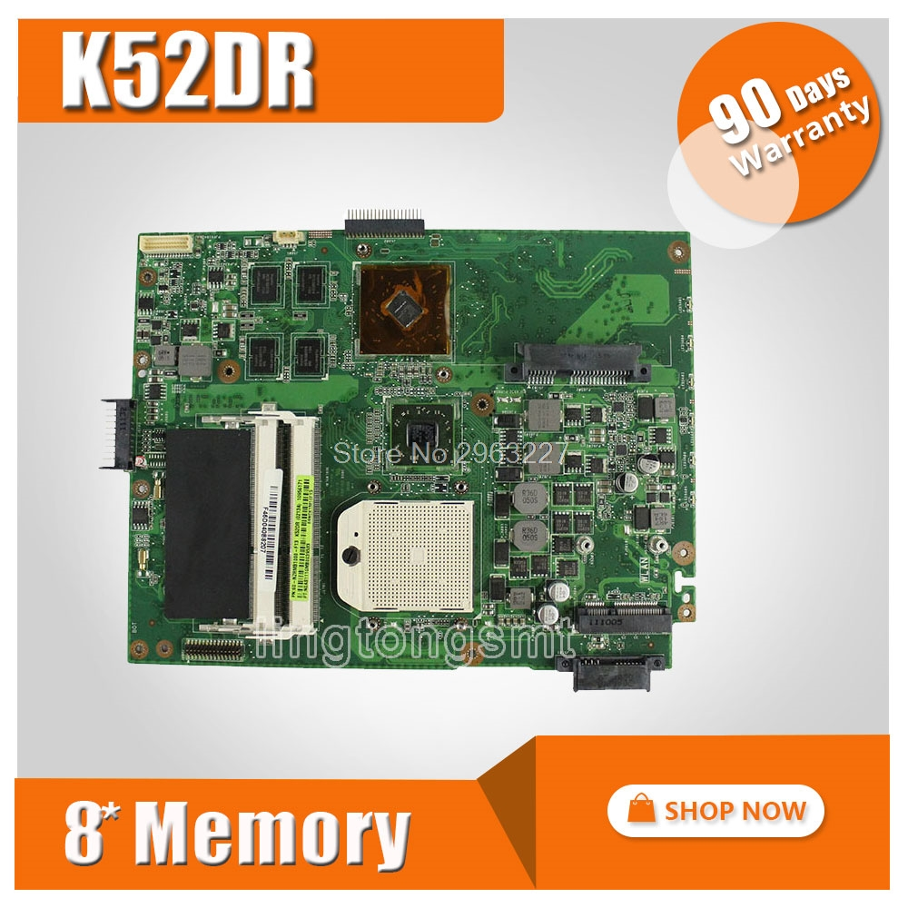 for ASUS K52DR laptop motherboard K52DY A52DE K52DE A52DR K52D Notebook mainboard HD5470 with 8pcs memory video card 100% tested for asus k52jt k52dr laptop motherboard 60 n1wmb1100 rev 2 3 8 video memory non integrated graphics card 100