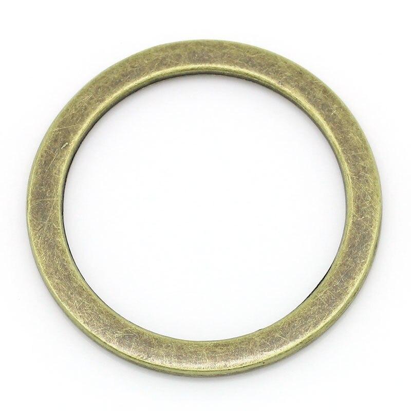 Closed Jump Rings Antique Bronze 3.3cm(1 2/8