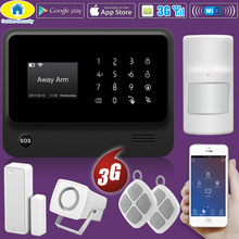 Golden Security WIFI GSM 2G 3G GPRS CID Supported Wireless  APP Remote Control Smart House Alarm System