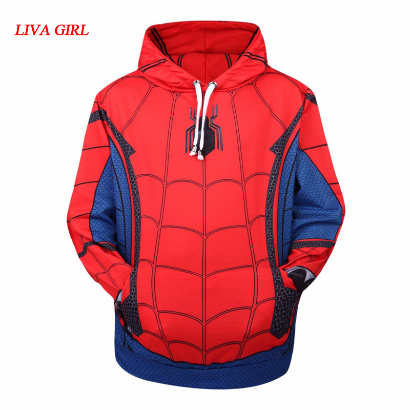 LIVA GIRL Spider-Man: Homecoming Spiderman Cosplay Costumes 3D Printing Hoodie Sweatshirts Coat Jackets daily casual Sweater