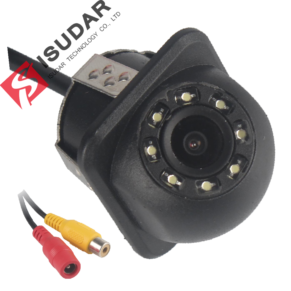 Isudar Rear Camera 8 LED HD With Night Vision 170 Degree Waterproof Reverse Camera Color Image