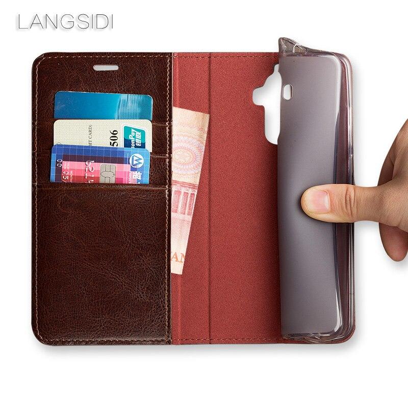 Wangcangli pour Mi Max Pro coque de téléphone huile cire peau portefeuille flip Stand titulaire fentes pour cartes étui en cuir pour envoyer un film de verre de téléphone - 5