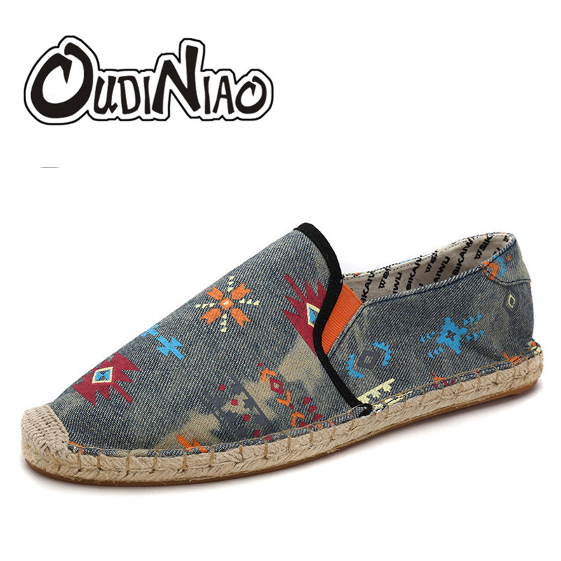 Hot Sale Men Shoes Spring Summer Breathable Fashion Woven Espadrilles Men Casual Shoes Loafers Comfortable Mocassins