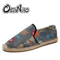 Hot Sale Men Shoes Spring Summer Breathable Fashion Woven Espadrilles Men Casual Shoes Loafers Comfortable Mocassins
