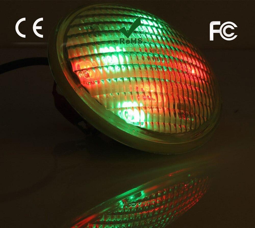 AC12V 54 W par56 led lumière sous-marine 18 LED RGB De Natation piscine lumière avec télécommande IP68 mur monté fontaine étang lampe
