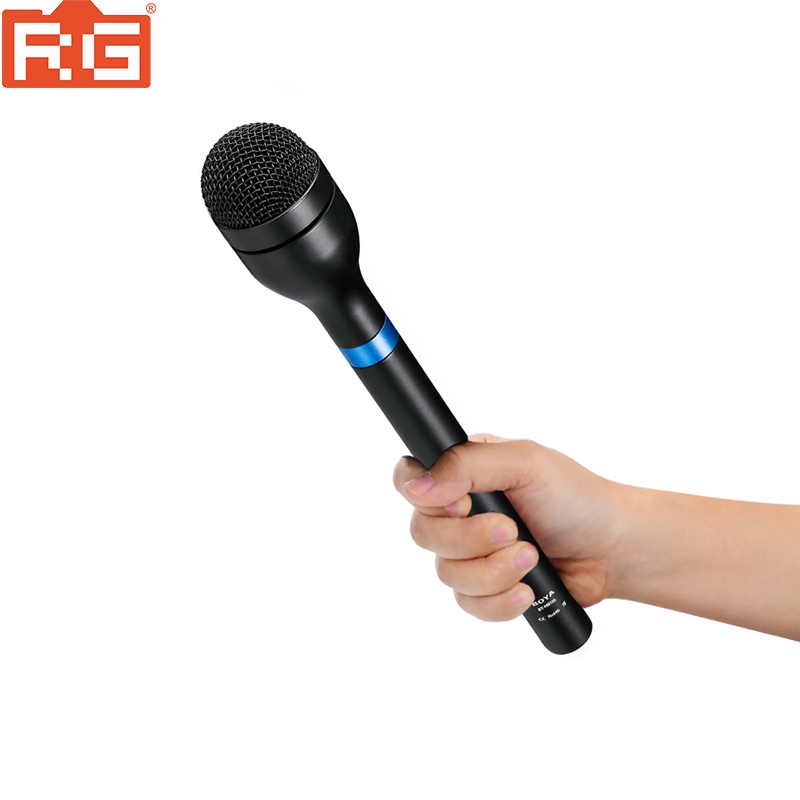 BOYA BY HM100 Handheld Dynamic Microphone Mic Omni Directional XLR Connector Alloy Mic for ENG Interview