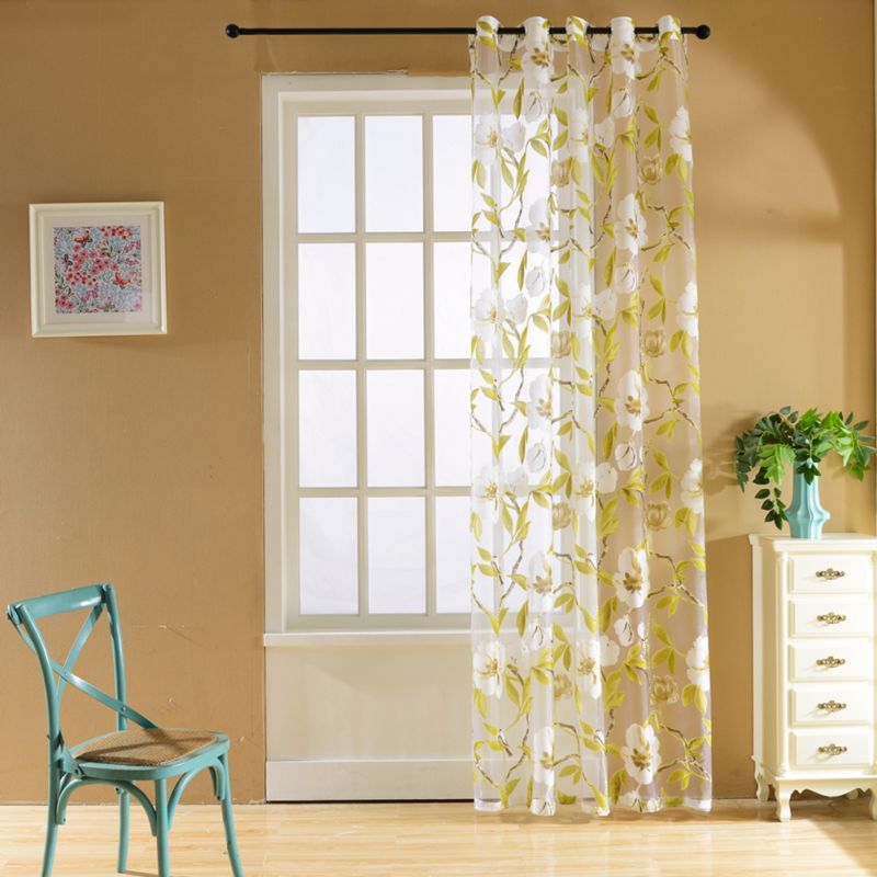 Window Flower Curtain Tulle Voile Curtains Decoration Curtain Door Curtains(China  (Mainland))
