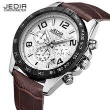 2016New Cronógrafo Cronómetro Deporte Militar Marca men impermeable de los relojes de moda de cuero de Lujo Relogio masculino Montre Homme