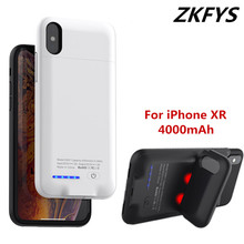 ZKFYS 4000mAh Battery Charger Cases For iPhone XR Portable High Quality External Power Bank Case For iPhone XR Charging Cover