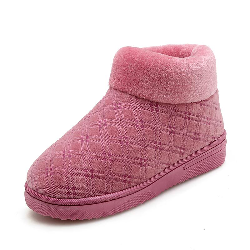 Felpa Imprimir Bean Calientes Botas Pisos Tamaño Sand Inicio De Zapatos Red Suela Vulusvalas 41 36 Plaid Interior Color Dormitorio Mujer Las rosy Suave Mujeres xHqwpS7I