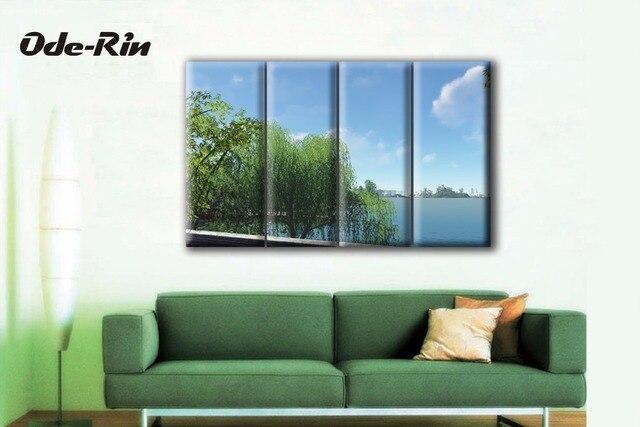 Moderna semplice Camera Da Letto sfondo Appendere un quadro pittura ...