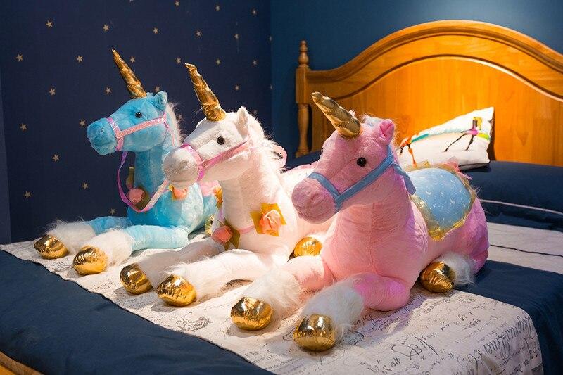 85cm Jumbo Cute Unicorn Plush Toys Giant Unicorn Stuffed Animal Horse Toy Soft Unicornio Doll Gift