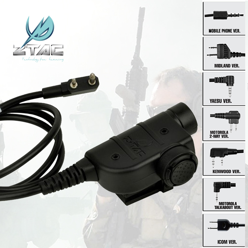 Z-TAC Z 125 U94 Tactical Headset Accessorie Airsoft Element Z Tactical Peltor Softair Ipsc KENWOOD Midland Sinairsoft PTT