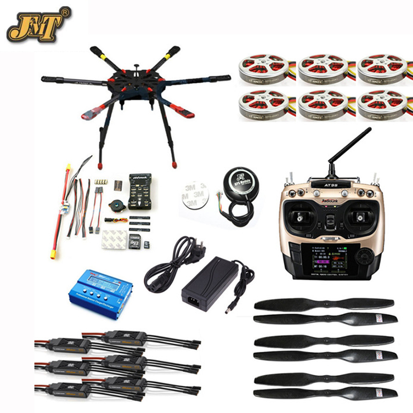 JMT DIY Full Set Hexacopter GPS Drone Aircraft Kit Tarot X6 6-Axis TL6X001 PX4 32 Bits Flight Controller Radiolink AT9S TX&RX hobbylord part st 550c 001 flight controller with gps wholeale price rc drone aircraft accessories free shipping